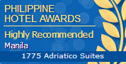 Philippine Hotel Awards - Highly Recommended