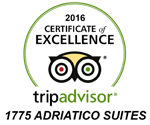 TripAdvisor Certificate of Excellence 2014 - 2016